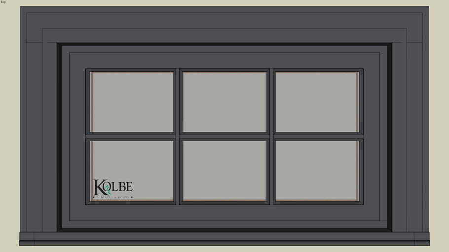 "Kolbe Ultra Double Hung Rectangular Transom UDHT2814(F.S. 2'-9 1/2"" x 1'-7 1/2"" R.O. 2'-10"" x 1'-8"")"