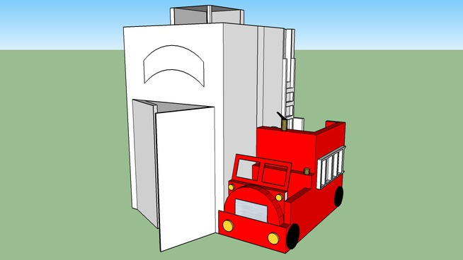Quantum Construction Fire Station Playhouse
