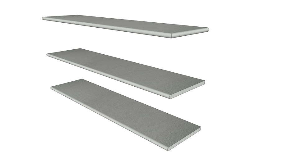 Urban Grey Porcelain Step 1194 x 290 with 20mm Bullnose Edge