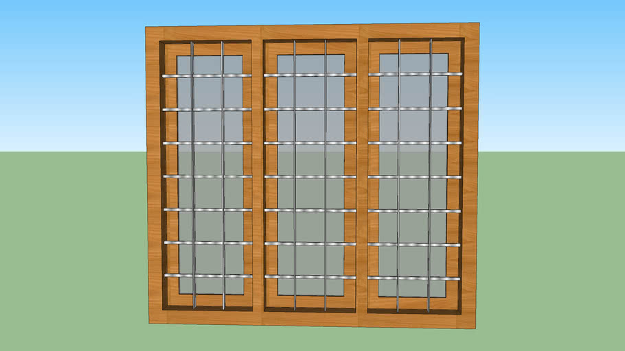 window wood with jali