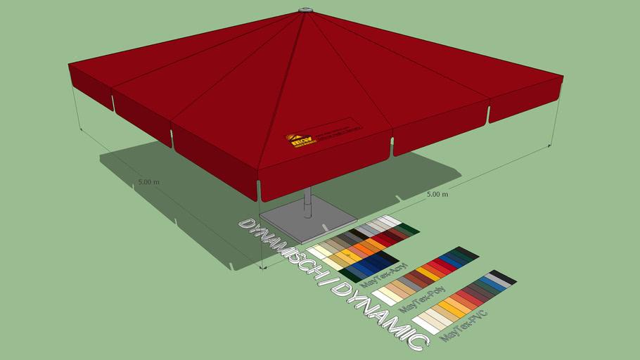May Albatros 5x5m Square Giant Umbrella
