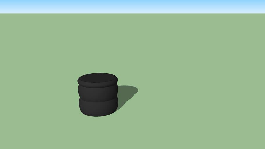 Puf negro
