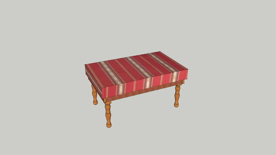 Hassock/Ottoman With Navajo Print Fabric