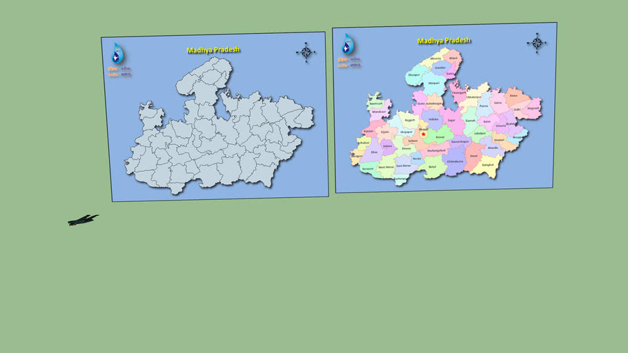India (Madhya Pradesh with All Cities by Sanjay R. Panchal, Indore, M.P., India)