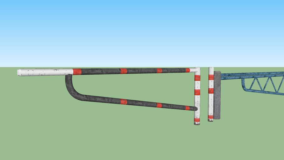 Barrier swing gate set