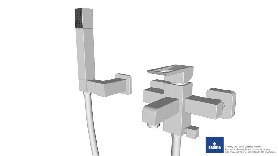 Deante Storczyk - BCT 011M - Bateria wannowa z kompletem natryskowym - Bath mixer with shower set