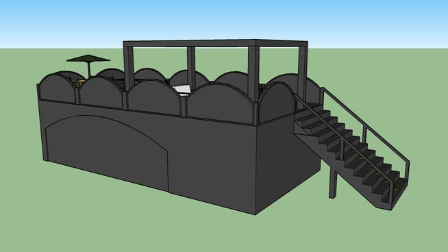 Carport mit Dachterrasse -- Made by SketchUp Boys
