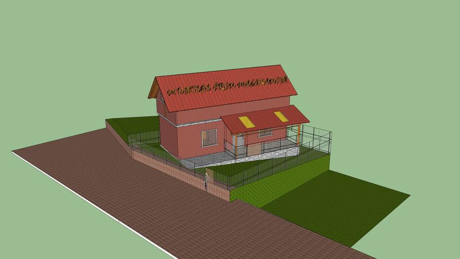 Dubleks 45+45 =90 m2 12 m2 veranda