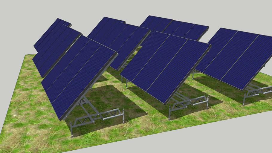 WIP  - A RESIDENTIAL BACKYARD SOLAR PANEL ARRAY