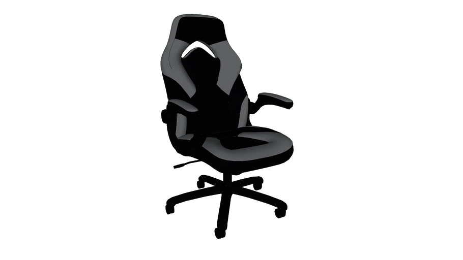 Ofm Ess 3085 Essentials Collection Racing Style Leather Gaming Chair 3d Warehouse