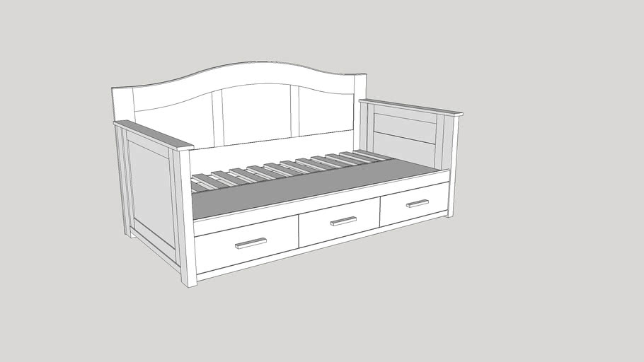 Twin Daybed Platform Bed With Storage