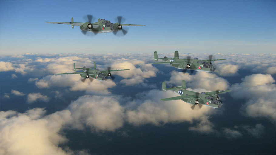 WW2+US_AIRFORCE+B25+MITCHELL