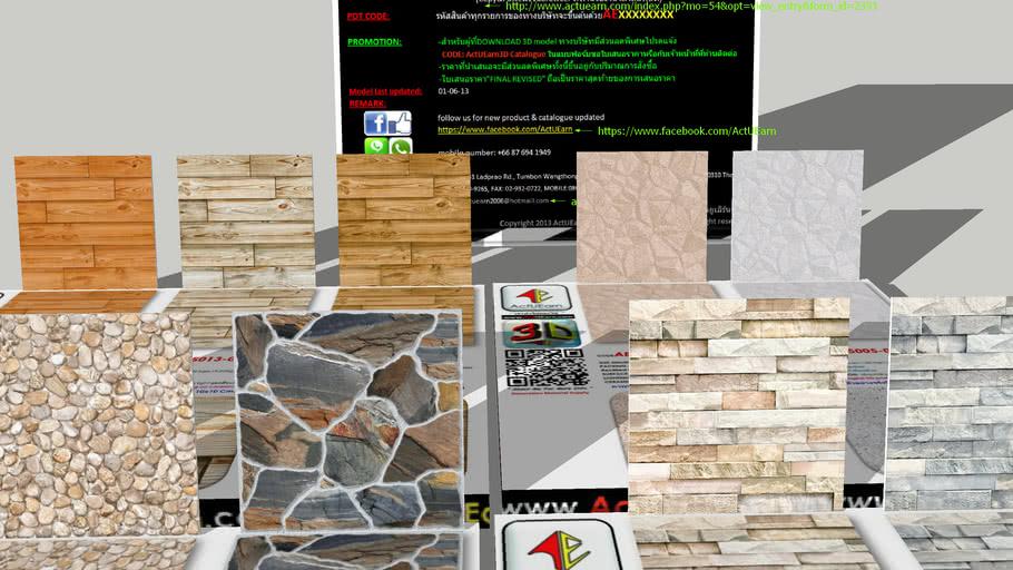 กระเบื้อง Digital Printing HD Ceramic Tiles ActUEarn3D Catalogue Part001