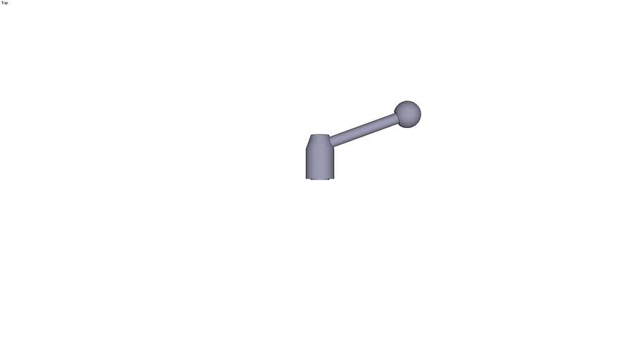 Levier de serrage réglable avec taraudage d1 = 21 d2 = M6