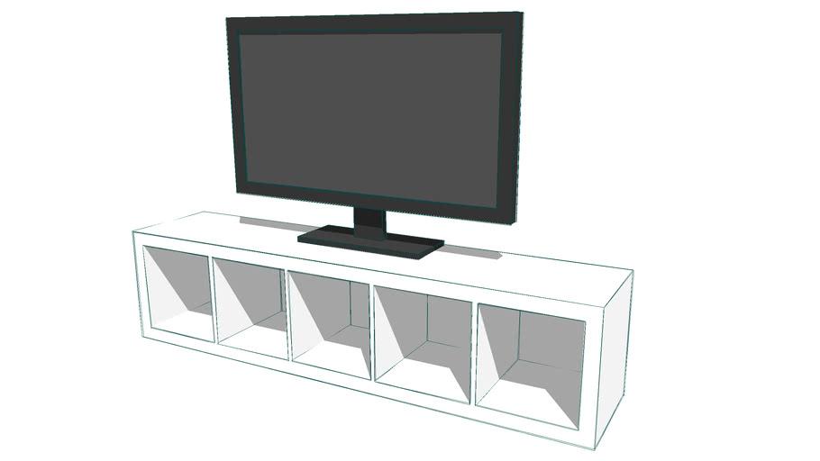 Flatscreen Tv Meubel.Tv Kast 3d Warehouse