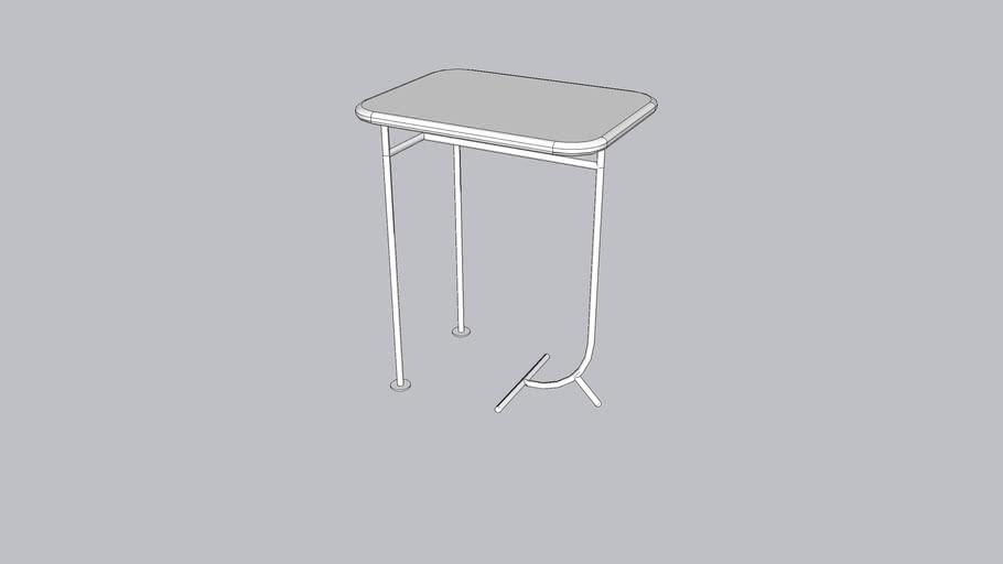 Lean L_Coffee table_Bright White