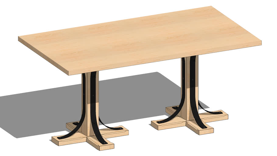 Sample Table With 01624090 1 Lexington Pedestal Table Bases 24 X 24 X 28 5 3d Warehouse