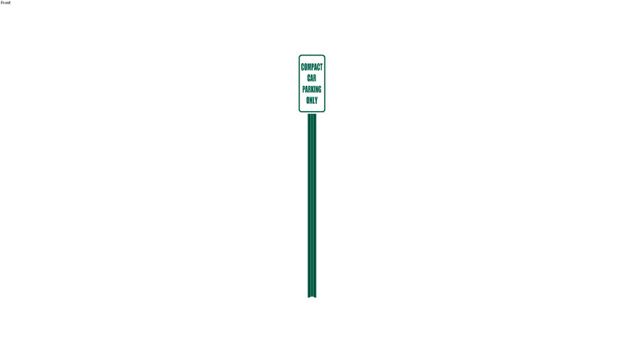 Compact Car Parking Sign - Detailed