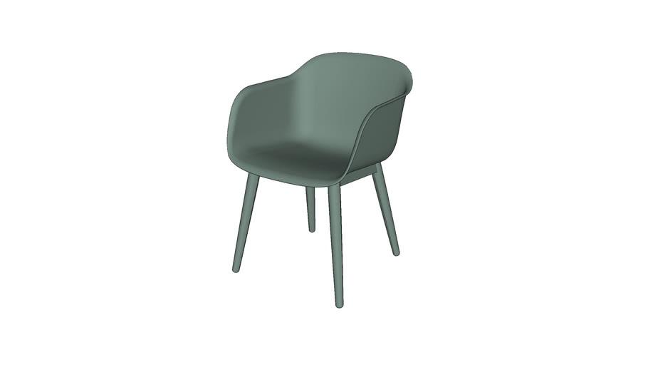 Fiber chair - wood base - by Muuto - designed by Iskos-Berlin