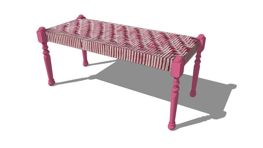 Banc tressé rose BOLLYWOOD, Maisons du monde. Réf: 143165, Prix: 89,99 €