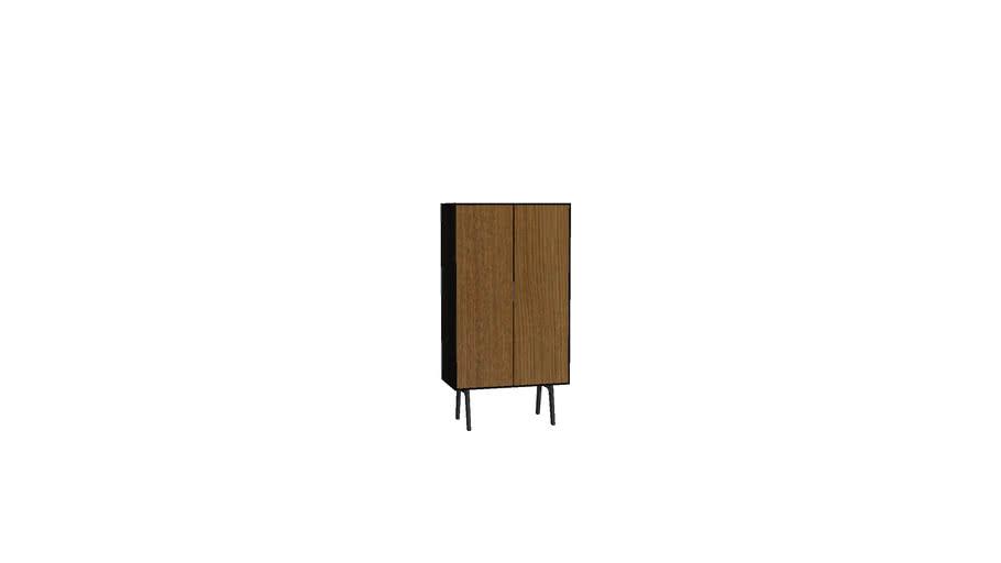 [Square Roots] Toro Sideboard Tall 2 doors_Fumed door_Burnt cabinet