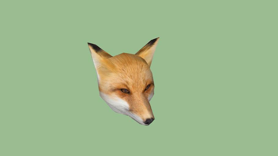 Red Fox Head 3d Warehouse