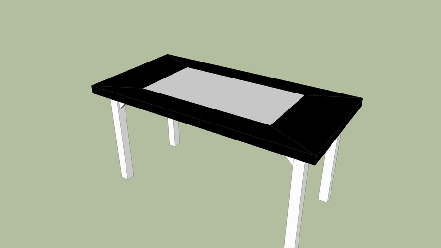 Table rectangulaire noire et blanche (2m / 1m)