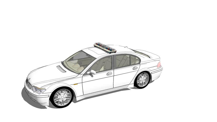 BMW 7 series with light bar