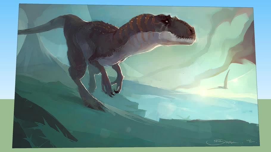 pintura dinosaurio