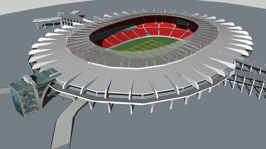 Maracana 2014 Estadio Mario filho , depois das reformas .