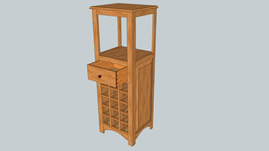 15 Bottle Wine Cabinet - By CreeksideWoodshop