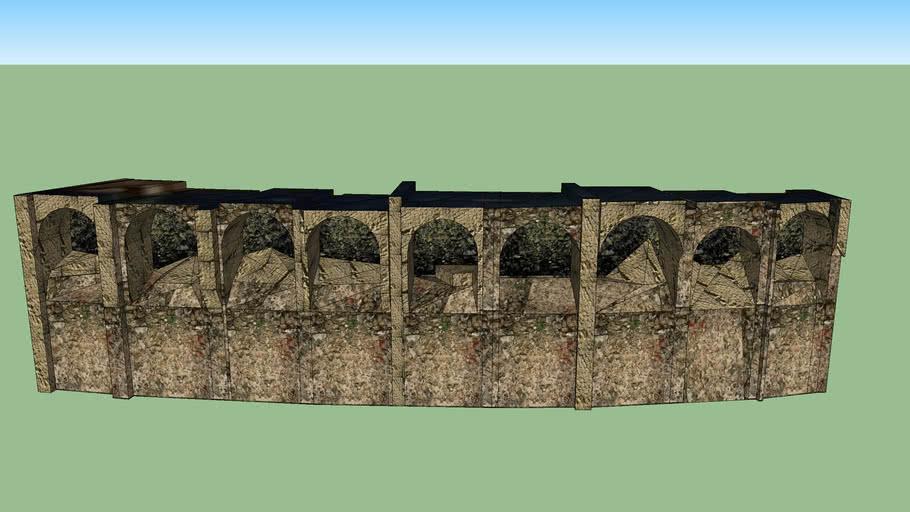 Anfiteatro piccolo di Puteoli, arcate su via Solfatara ( Pozzuoli NA )
