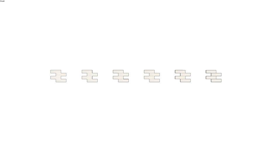 CHROMA OFF WHITE 7X26 BR ASSIM 30X39 TEL - PORTOBELLO