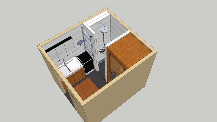 Badkamer ontwerp 230x206