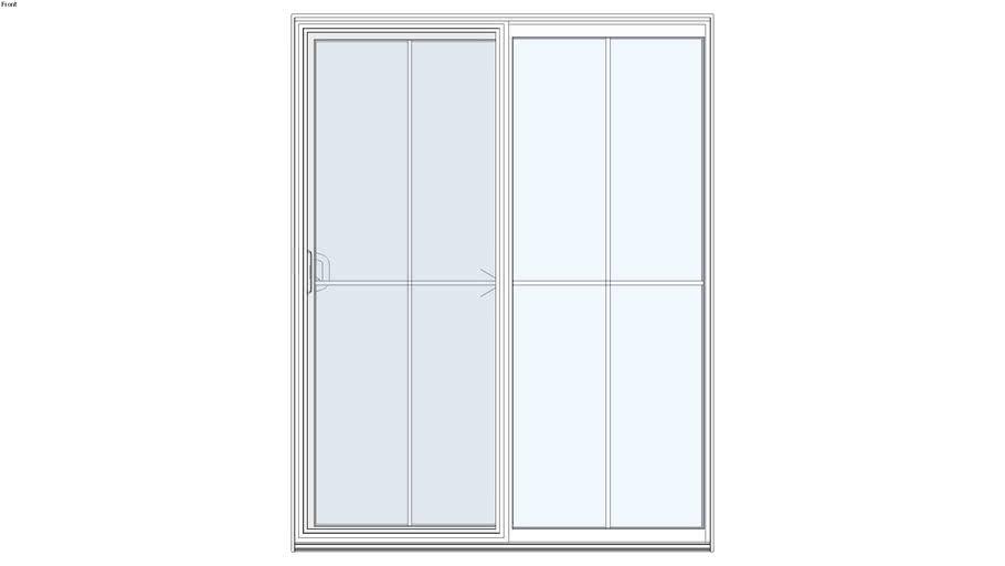 Standard Aluminum Series 2-Panel Sliding Door