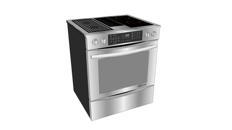 """JES9860CAS 30"""" Slide-In Modular Electric Downdraft Range with Convection"""