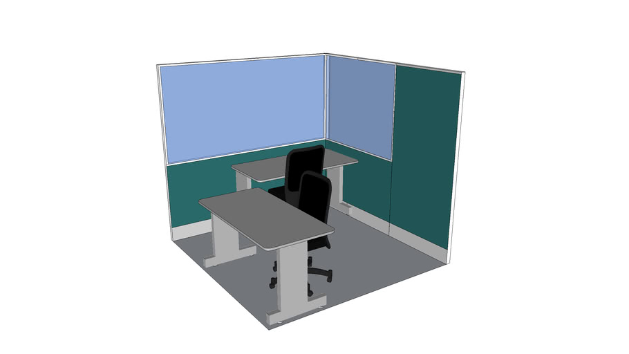 GLASS & FABRIC PARTITION