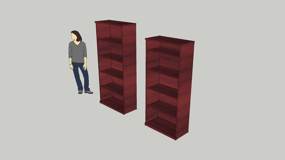 plain office book shelf