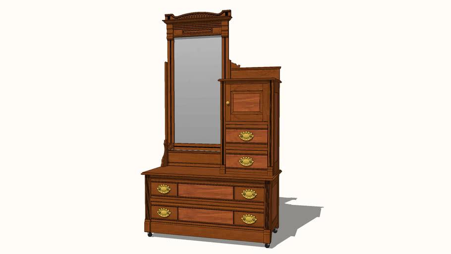 Eastlake Style Walnut Dresser