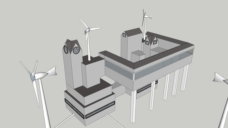 C.M futuristic building For TD