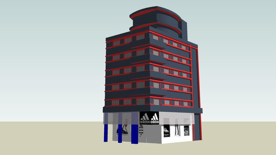 edificio que dice adidas, asuncion