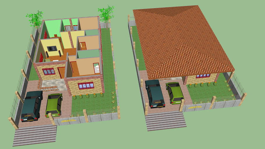 Three Bedroom Residential House