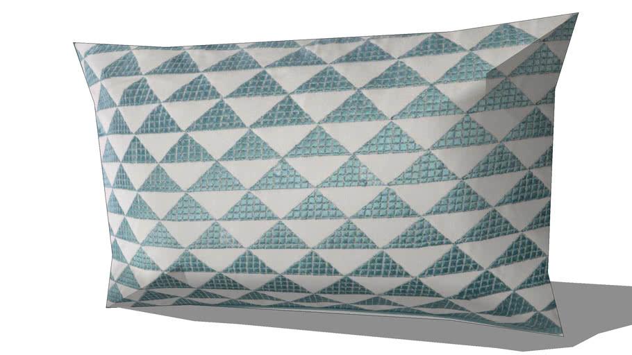 Coussin en coton bleu 30 x 50 cm MIX REF 156707 PRIX 19.99€