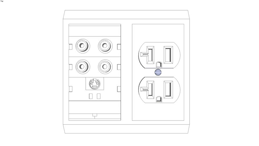 US Double Socket w/ audio-video ports and s-video.