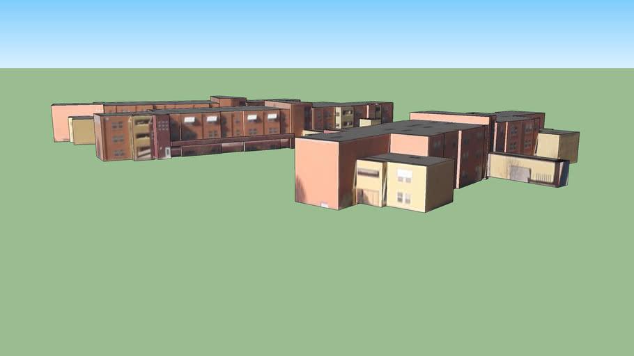 Bâtiment situé Albuquerque, Nouveau-Mexique, États-Unis