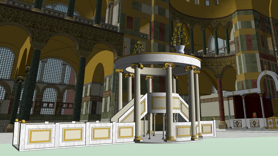 Ambon Hagia Sophia's church (Constantinople-Istanbul)