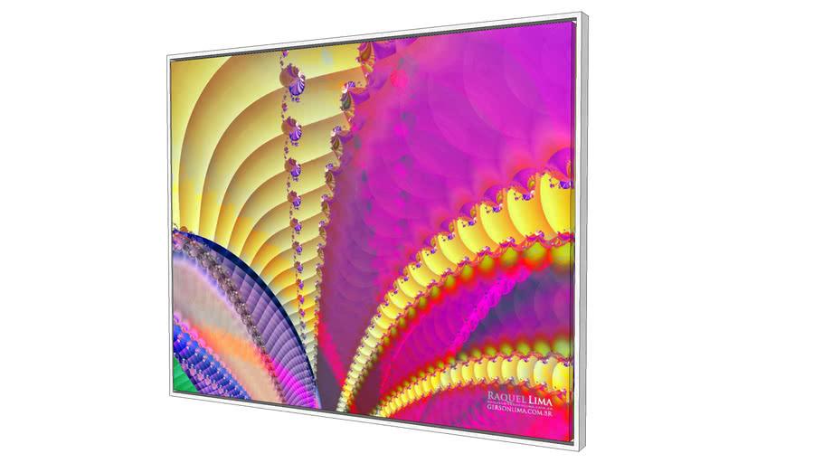 Tela Colors - Série Fractais - Raquel Lima - 1m x 80cm