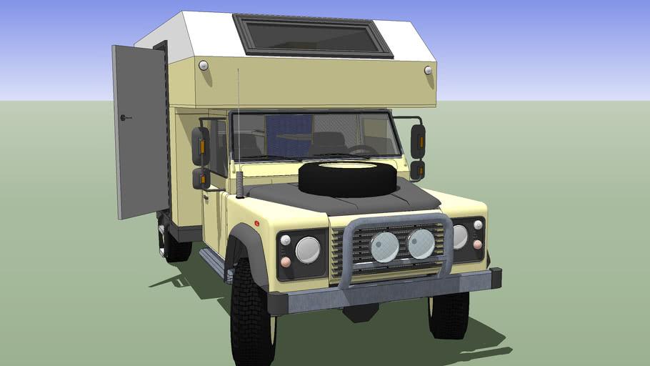 Land Rover, Defender 130 + Camper Unit avec Interieur