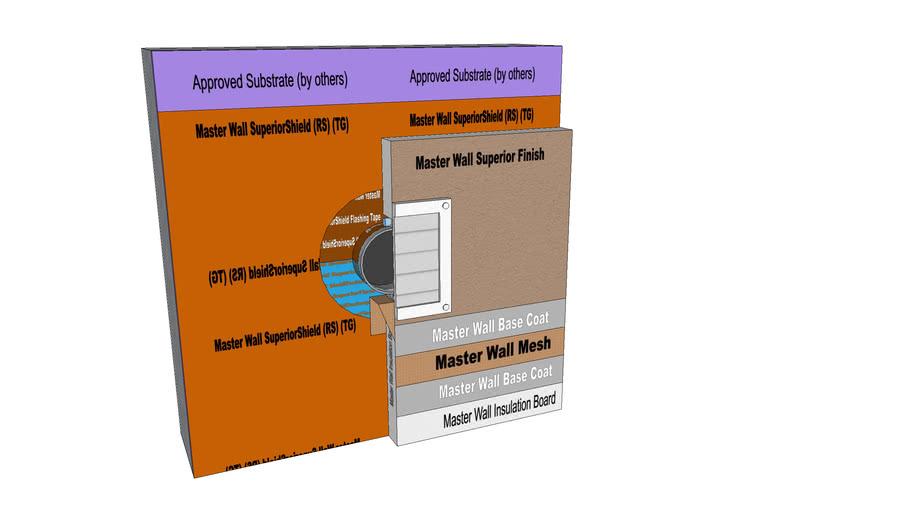 Rollershield Drainage CIFS™ Dryer Vent Detail