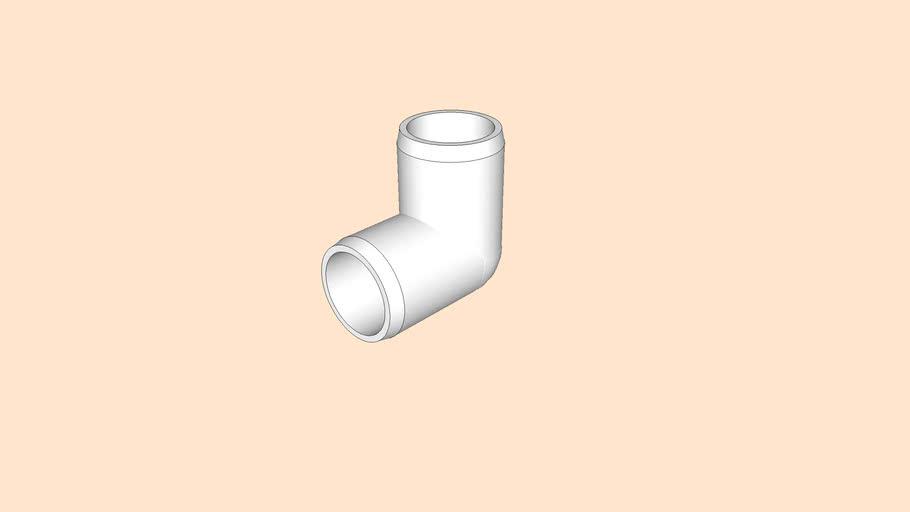 3/4 in. 90 Degree Furniture Grade PVC Elbow - FORMUFIT